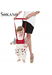 Sokano Babykly Waistcoat Style Baby Walking Assistant Band - Red (Free Children BPA Free Tableware)