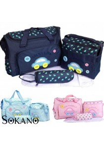 Sokano Premium Cutie Large Capacity Diaper Bag 4 pcs Set