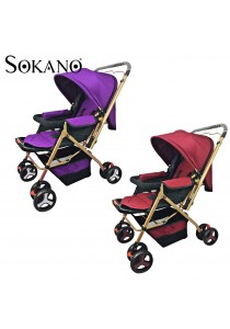 Sokano 3712 Premium Luxuries 2 Ways Stroller