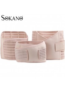 Sokano Premium 3 Pcs Set Postpartum Support Girdle (Abdomen Belt, Gastric Belt & Pelvic Girdle)