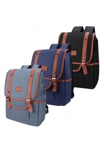 Travel Star 9041 Premium Canvas Laptop Double Strap Backpack
