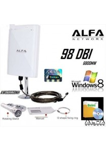 High Power Alfa AWUS039NH 98dBi Wifi Booster Adapter Support Win 8