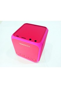 Moonstar Z11 Stylish Cube Speaker Bluetooth Stereo Sound Micro SD Card - Pink