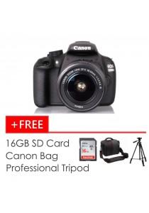 Canon EOS 1200D (18-55mm IS II KIT) + 16GB SD Card + Tripod + Bag (Original Malaysia Warranty)