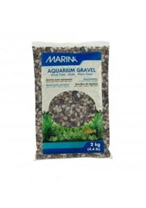 Marina Decorative Aquarium Gravel - Grey Tones - 2 kg (4.4 lbs)