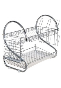 2 Layer Stainless Steel Dish Drainer (OEM)