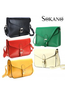 SoKaNo Trendz Retro Style Waxed PU Leather Sling Handbag