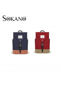 Sokano English Retro Style Canvas Laptop Backpack