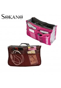 SoKaNo Trendz Lightweight and Water-Resistant Multi-Compartment Bag in Bag Organizer