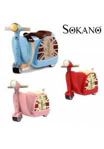 Sokano 2 in 1 Motorbike Design Ride On Kid Luggage