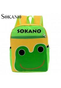 Sokano Trendz Kid Ultralight Cartoon Character Backpack- Frog