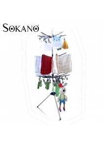 Sokano MD9016 3 Tiers Foldable Cloth Hanger and Drying Racks (Outdoor and Indoor Use)