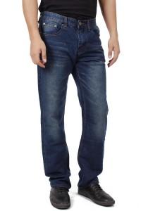 KM Men Straight Long Blue Jeans - Blue