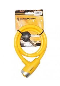 Cronus E-Key Safety Cable Lock Bicycle Accessories (Yellow)