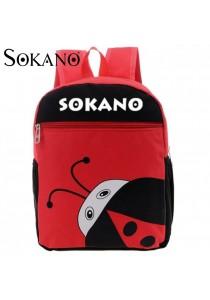 Sokano Trendz Kid Ultralight Cartoon Character Backpack- Lady Bird