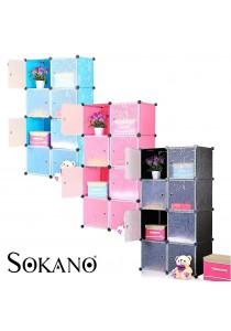 SOKANO DIY Magic 8 Cube Storage Cabinet