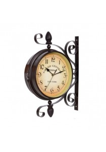 OEM 10 Inch Classical Royal Rotatable Double-sided Vintage Wall Clock (Number)
