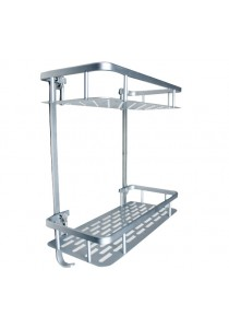 OEM Non-drilling Strong Adhesive Wall Mounted Square Shelf (2 Tier)
