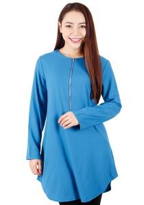 KM Muslimah Blouse Sleeve Elastic (Blue)