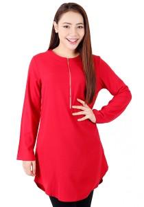KM Muslimah Blouse Sleeve Elastic (Red)