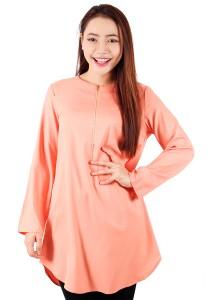 KM Muslimah Blouse Sleeve Elastic (Peach)