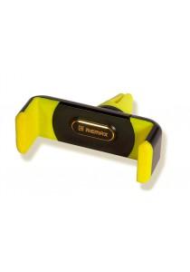 Original Remax RM-C01 Air Vent Smartphone Car Holder - Black / Yellow