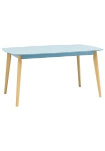 nesthouz.com Arthur 150cm Dining Table in Natural/Dust Blue Colour