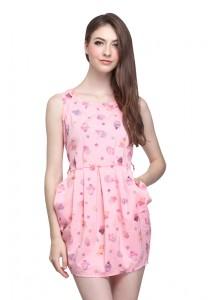 Angel Court Elastic Waistband Sleeveless Round Neck Mini Dress AC37-2781