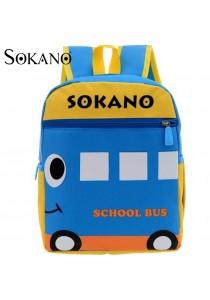 Sokano Trendz Kid Ultralight Cartoon Character Backpack- School Bus