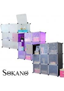 SOKANO DIY Magic 9 Cube Large Capacity Creative Storage Cabinet