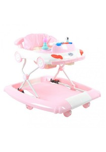 Asogo 1525058-BW Baby Walker With Rocker Mode And Stopper (Pink)