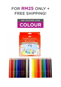 Faber-Castell 48 Tri Colour Pencils 115876