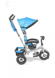 Asogo High Quality Kids Tricycle With Parent Handle 1530071-TC (Blue)