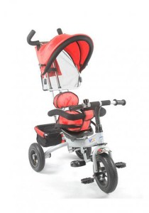 Asogo High Quality Kids Tricycle With Parent Handle 1530071-TC (Red)