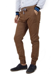 KM Men Regular Fit Jogger Pants - Brown