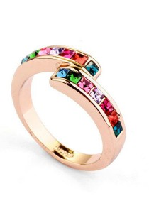 Colour Crystal Ring 111303 (Size 13)