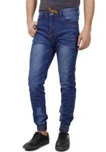 KM Men Slim Fit Jogger Jeans - Blue