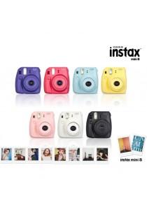 Fujifilm Instax Mini 8 (Black/Yellow/Blue/Pink/White/Grape/Raspberry)