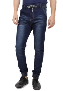 KM Men Slim Fit Jogger Jeans - Dark Blue