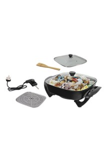 HSX Korean Style Multifunctional Electrical Steamboat Cooker Grill Pan