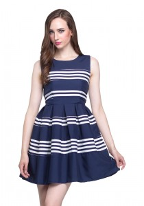 Angel Court Elastic Waistband Sleeveless Round Neck Mini Dress AC37-2785
