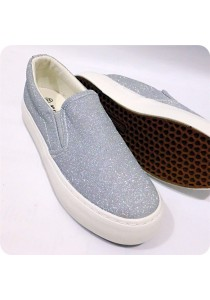 Shinning Silver Canvas Shoes