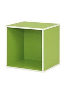 Stackable Fancy Colour Kid Cube Storage Box Bookcases (Green)