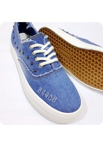 Studded Jeans Canvas Shoes