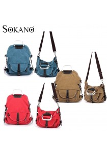 SoKaNo Trendz SKN618 3 Way Use Canvas Shoulder, Crossbody Bag and Backpack