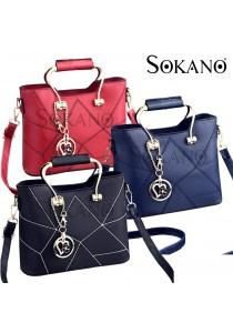 SoKaNo Trendz SKN828 Premium Elegant European Style Woman Handbag with Keychain