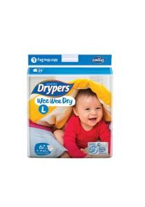 Wee Wee Drypers Diaper L62 9-14Kg