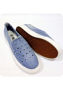 Heartshape Holes Jeans Canvas Shoes