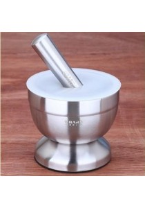 Stainless Steel Pestle & Mortar (Big)