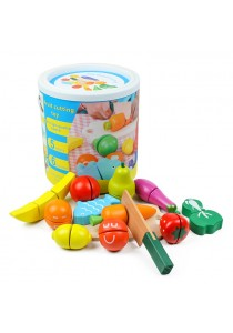 Fruit and Vegetable Cutting Wooden Toy Play Set -BT14